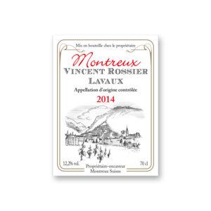 Etiquette vin Vincent Rossier Lavaux
