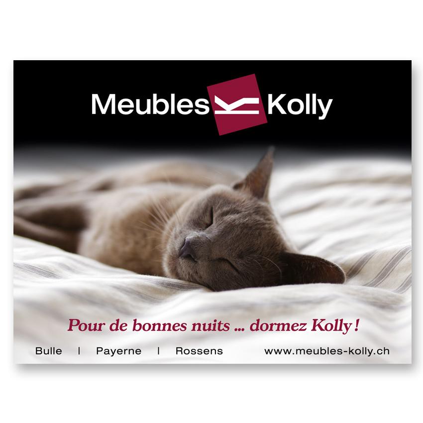 Publicité literie Meubles Kolly - Dormez Kolly magazine