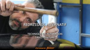 Vidéo débosselage alternatif pour réparation sans peinture. Carrosserie Berset La Tour-de-Trême - Bulle